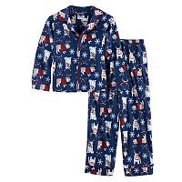 Boys 4-10 Bulldog 2-Piece Pajama Set
