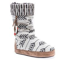 Women's MUK LUKS Maribelle Knit Chevron Boot Slippers
