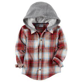 Boys 4-7 Carter's Hooded Plaid Flannel Shirt