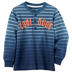 Boys 4-7 Carter's Striped Henley Tee
