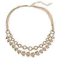 Napier Circle & Vine Multi Strand Necklace