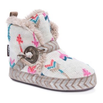 Women's MUK LUKS Wendy Knit Arrows Boot Slippers