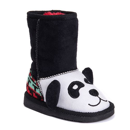 MUK LUKS Oreo Panda Bear Toddler's Plush Boots