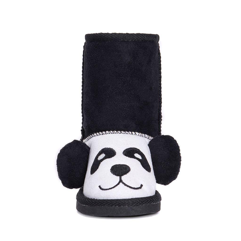MUK LUKS Oreo Panda Bear Toddler's Plush Boots