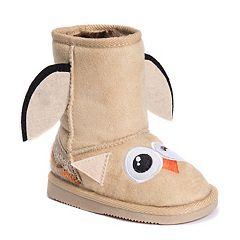 MUK LUKS Uno Owl Toddler's Plush Boots