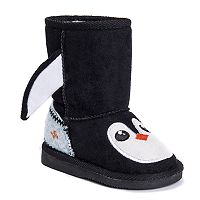 MUK LUKS Echo Penguin Toddler's Plush Boots