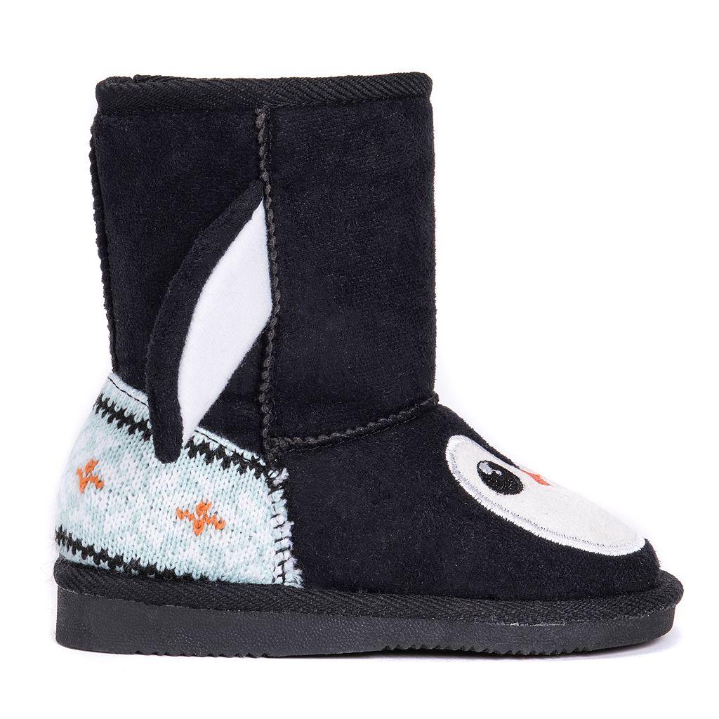 MUK LUKS Echo Penguin Toddler's Plush Boots