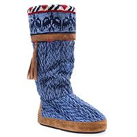 Women's MUK LUKS Marisa Knit Boot Slippers