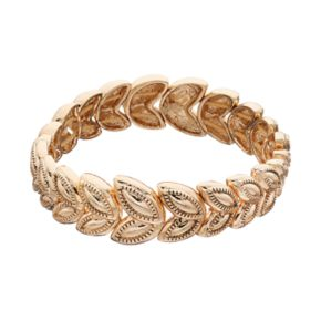 Napier Textured Marquise Stretch Bracelet