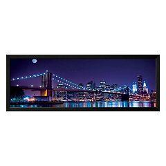 Art.com Brooklyn Bridge & Manhattan Skyline Framed Wall Art