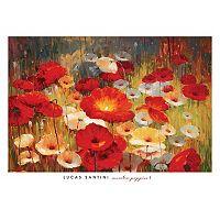 Art.com Meadow Poppies I Wall Art Print