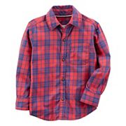 Boys 4-7 Carter's Plaid Flannel Button-Down Shirt