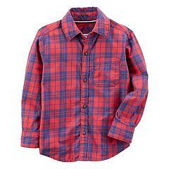 Boys 4-7 Carter's Plaid Flannel Button-Down Shirt