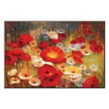 Art.com Meadow Poppies I Mounted Wall Art Print