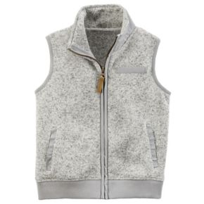 Boys 4-7 Carter's Zip-Up Sweater Vest
