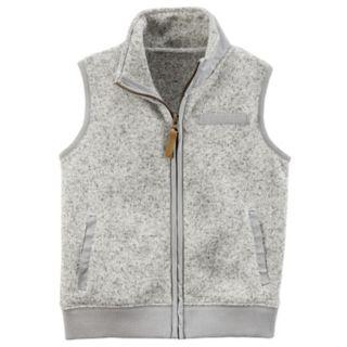 Boys 4-7 Carter's Zip-Up Sweater Vest