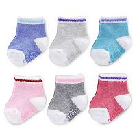 Baby Girl Carter's 6-pk. Primary Colors Crew Socks