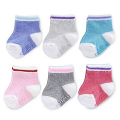 Baby Girl Carter's 6 pkPrimary Colors Crew Socks