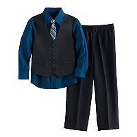 Boys 4-12 Van Heusen Tattersal 4 pc Vest Set