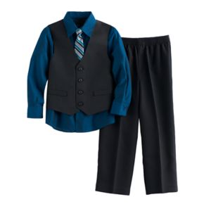 Boys 4-12 Van Heusen Tattersal 4-Piece Vest Set