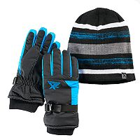 Boys 4-18 ZeroXposur Stealth Beanie & Gloves Set