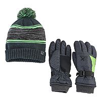 Boys 4-18 ZeroXposur Kenny Beanie & Gloves Set