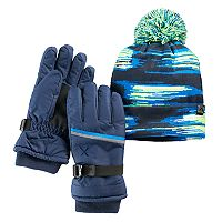 Boys 4-18 ZeroXposur Equinox Hat & Gloves Set
