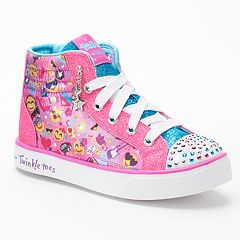 Skechers Twinkle Toes Shuffles Breeze 2.0 Girls' High-Top Light Up Sneakers