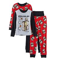 Boys 4-10 Minecraft Iron Golem 4-Piece Pajama Set