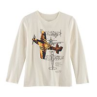 Boys 4-7x SONOMA Goods for Life™ Airplane Sketches Metallic Long Sleeve Graphic Tee