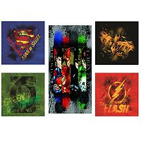 DC Comics Justice League 5 pc Canvas Print Wall Art Set