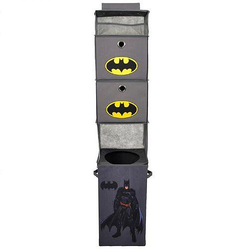 DC Comics Batman Closet Hanging Organizer & Storage Bin Set