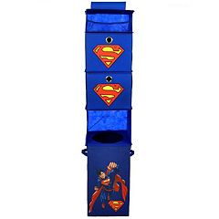 Marvel Super-Man Closet Hanging Organizer & Storage Bin Set