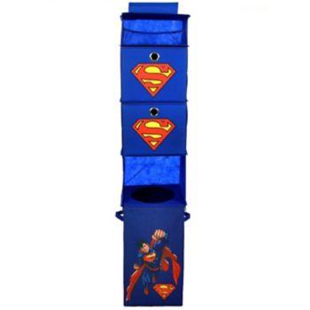 Marvel Super-Man Closet Hanging Organizer & Storage Bin Set