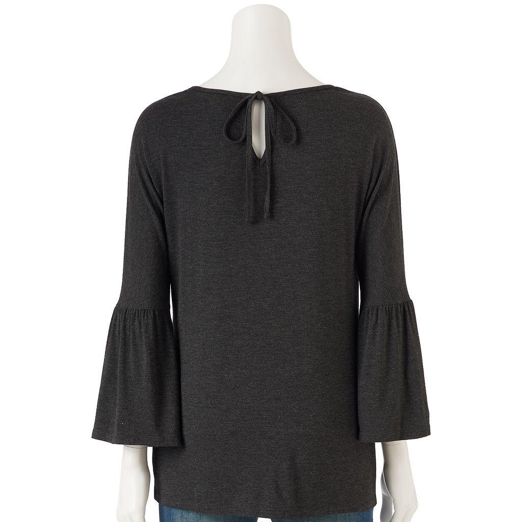 Women's LC Lauren Conrad Solid Bell Sleeve Top