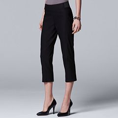 Women's Simply Vera Vera Wang Seamed Twill Capri