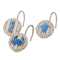 Bacova Coastal Patch Shower Curtain Hooks