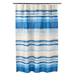 Bacova Coastal Patch Waves Shower Curtain