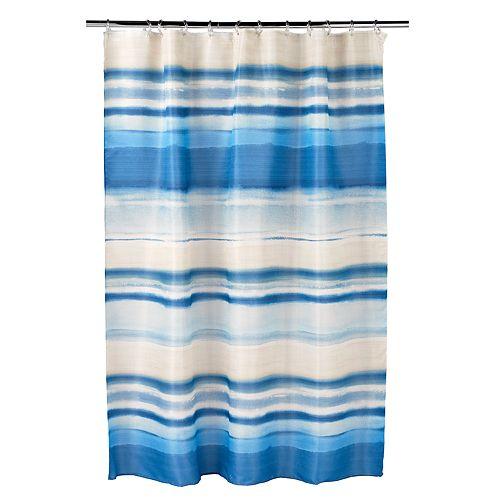Bacova Coastal Patch Waves Shower Curtain