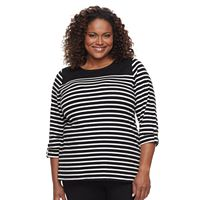 Plus Size Croft & Barrow® Sleeve Lace Tee