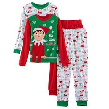 Boys 4-10 Elf on the Shelf® 4-Piece Pajama Set