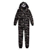 Boys Jellifish Hooded Fleece One-Piece Pajamas