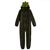 Boys Jelli Fish Hooded Fleece One-Piece Pajamas