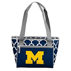 Logo Brand Michigan Wolverines 16-Can Quatrefoil Cooler Tote