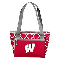 Logo Brand Wisconsin Badgers 16-Can Quatrefoil Cooler Tote