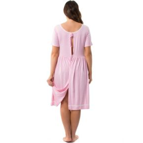 Plus Size Maternity Pip & Vine by Rosie Pope Hospital Nightgown