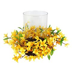 SONOMA Goods for Life™ Artificial Forsythia Hurricane Candle Holder