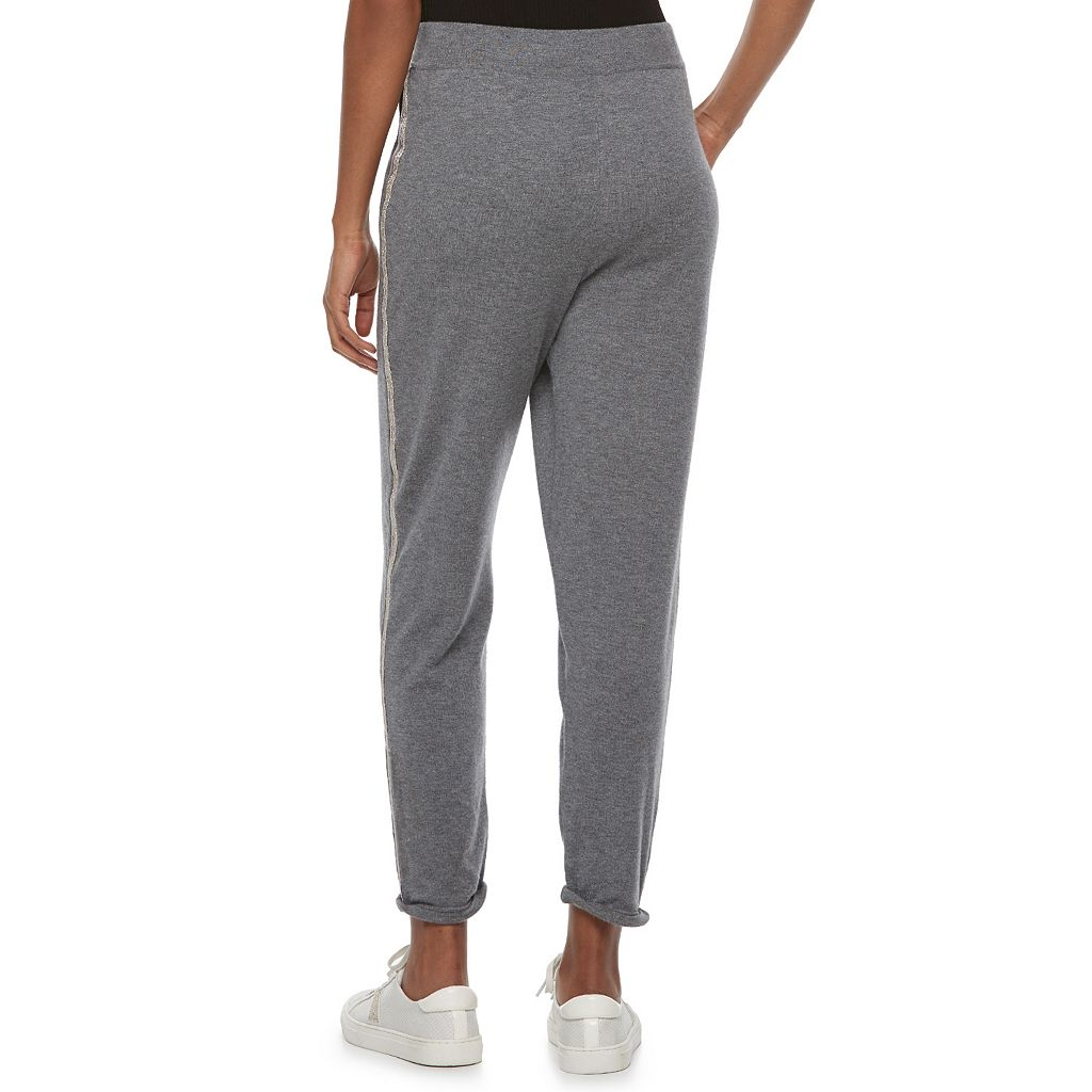 Women's Jennifer Lopez Embellished Side Stripe Joggers