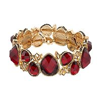 Napier Red Teardrop Stretch Bracelet