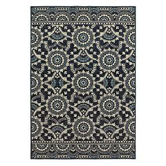 StyleHaven Logan Garden Lattice Medallion Rug